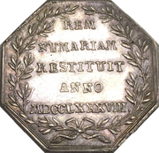 Medal - Reopening of the Porrentruy mint - Joseph Sigismund von Roggenbach (Bistum Basel) – reverse