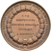 Medal - Opening of the Federal Mint (Canton of Bern) – reverse