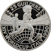 25 Guilders (World Cup 1990) – reverse