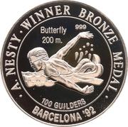 100 Guilders (Anthony Nesty; 200m) – reverse