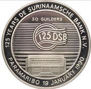 50 Guilders (125th Anniversary De Surinaamsche Bank) – reverse