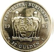 30 Gulden (30th Anniversary of the Central Bank) – obverse
