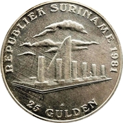 25 Gulden (1st Anniversary of Revolution) – reverse