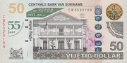 50 Dollars (55 Years of Central Bank) – obverse