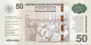 50 Dollars (55 Years of Central Bank) – reverse
