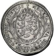 1 Thaler - Eberhard Ludwig and bishop Marquard Rudolf von Roth – reverse