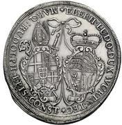1 Thaler - Eberhard Ludwig and bishop Marquard Rudolf von Roth – obverse