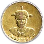 1 Lilangeni - Mswati III (1st portrait, magnetic) – obverse
