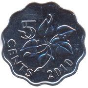 5 Cents - Mswati III (2nd portrait) – reverse