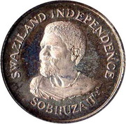 5 Cents - Sobhuza II (Independence) – obverse