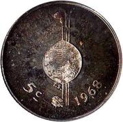5 Cents - Sobhuza II (Independence) – reverse