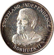 10 Cents - Sobhuza II (Independence) – obverse