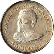 20 Cents - Sobhuza II (Independence) – obverse
