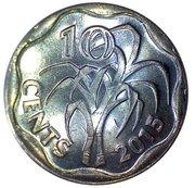 10 Cents - Mswati III – reverse