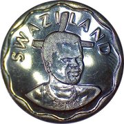 20 Cents - Mswati III -  obverse