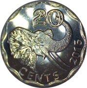 20 Cents - Mswati III -  reverse