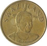 1 Lilangeni - Mswati III (2nd portrait) – obverse