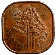 2 Cents - Sobhuza II – reverse