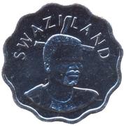 5 Cents - Mswati III (2nd portrait) -  obverse