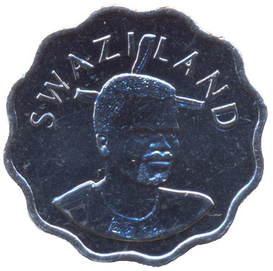 km48 UNC Coin Swaziland 5 Cents 2007