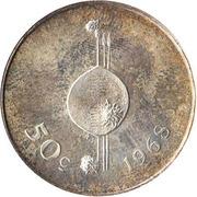 50 Cents - Sobhuza II (Independence) – reverse