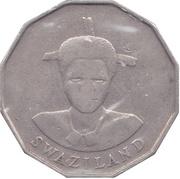 50 Cents - Mswati III (1st portrait) – obverse