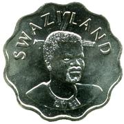 20 Cents - Mswati III (2nd portrait) – obverse