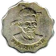 5 Cents - Sobhuza II – obverse