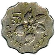 5 Cents - Sobhuza II – reverse