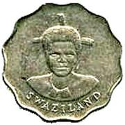 5 Cents - Mswati III (1st portrait) – obverse