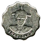 5 Cents - Mswati III (1st portrait, magnetic) – obverse