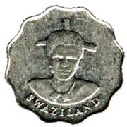 5 Cents - Mswati III (1st portrait, magnetic) – obverse