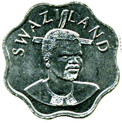 10 Cents - Mswati III (2nd portrait) – obverse