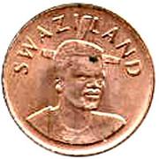 1 Cent - Mswati III (2nd portrait) – obverse
