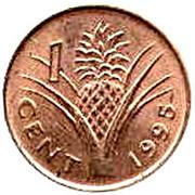 1 Cent - Mswati III (2nd portrait) – reverse