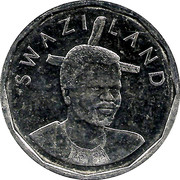 50 Cents - Mswati III (2nd portrait, magnetic) – obverse