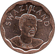 5 Cents - Mswati III (2nd portrait) – obverse