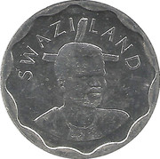 20 Cents - Mswati III (2nd portrait, magnetic) – obverse