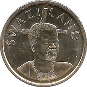 1 Lilangeni - Mswati III (2nd portrait, magnetic) – obverse