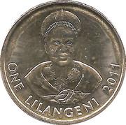 1 Lilangeni - Mswati III (2nd portrait, magnetic) – reverse