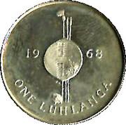 1 Luhlanga - Sobhuza II (Independence) – reverse