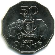 50 Cents - Mswati III (2nd portrait) – reverse
