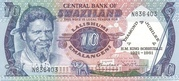 10 Emalangeni (Diamond jubilee of King Sobhuza II) – obverse