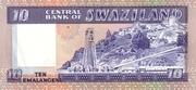 10 Emalangeni (Diamond jubilee of King Sobhuza II) – reverse