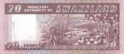 20 Emalangeni (Diamond jubilee of King Sobhuza II) – reverse