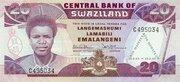 20 Emalangeni (King Mswati's 21st Birthday) – obverse