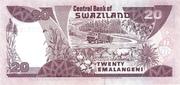 20 Emalangeni (King Mswati's 21st Birthday) – reverse