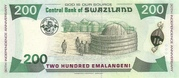 200 Emalangeni (30th Anniversary of Independence) – reverse