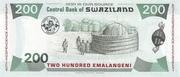 200 Emalangeni (King's 40th Birthday & 40th Independence Anniversary) – reverse