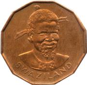 1 Cent - Sobhuza II – obverse